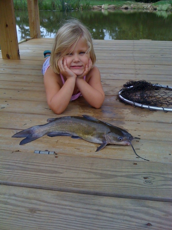 Haley posing with fish